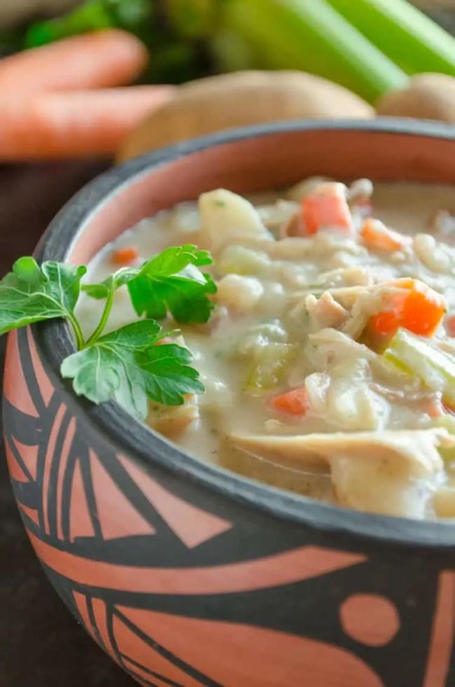 Creamy Leftover Turkey Stew- The Goldilocks Kitchen