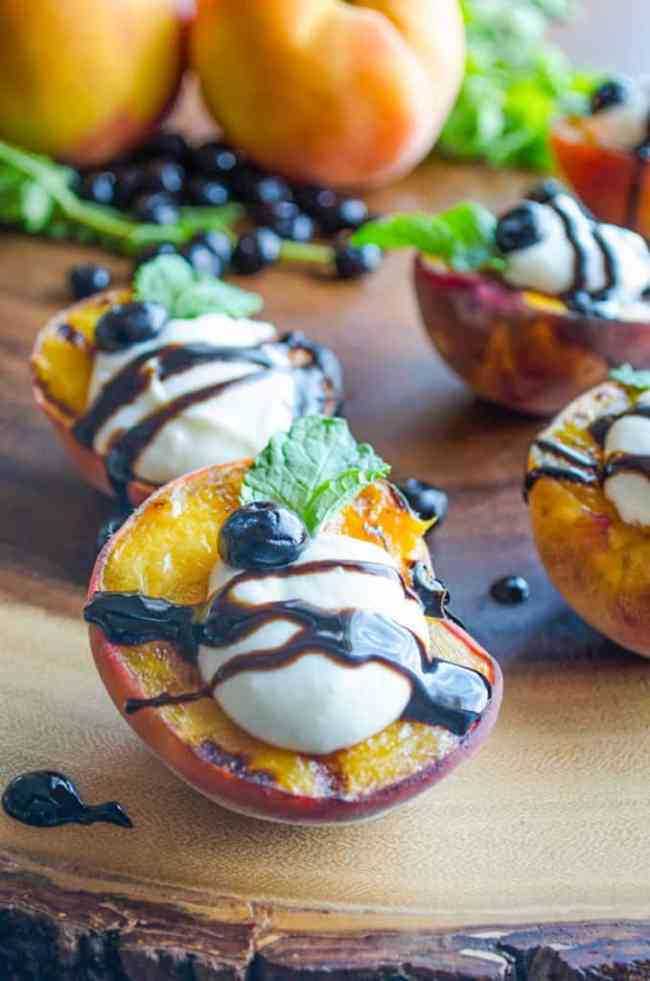 Grilled Ricotta Peaches