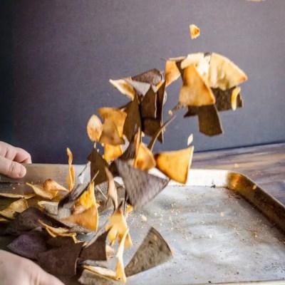 Crispy Baked Southwestern Tortilla Chips