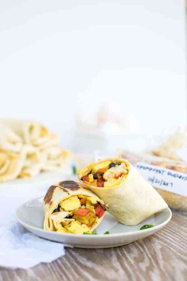 Freezer Breakfast Burritos from Appetites Anonymous. 30 Valentine's Day Breakfast In Bed Ideas - The Goldilocks Kitchen