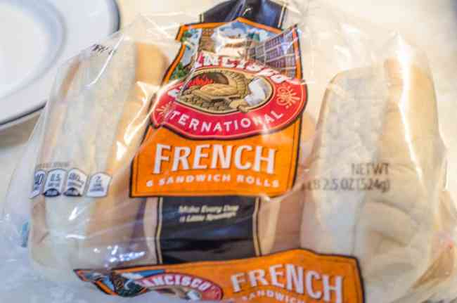 French sandwich rolls n a bag, used for French Dip with Au Jus.