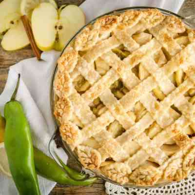 Green Chile Apple Pie