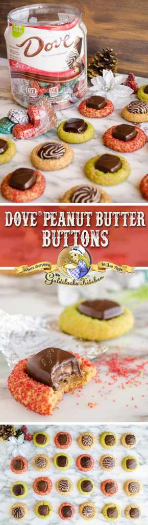 #sponsored If you're a fan of dark chocolate, you'll love @dovechocolate dark chocolate Peanut Butter Buttons, made with silky smooth DOVE® Chocolates. Make some cookies for yourself and some to give away with a stop by Sam's Club for a DOVE® Silky Smooth Promises Pantry jar that holds a whopping 108 pieces.