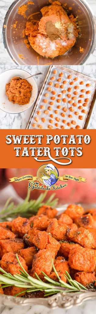 Delicious cute little packets of nutrition, homemade Sweet Potato Tots are a fun way to get your kids involved in eating healthy. (Plus grown ups love them too!)