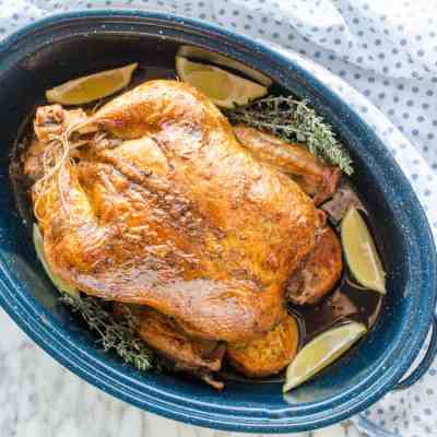 Whole Roasted Chicken and Sweet Potatoes