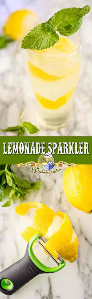 Skip the straw and get your nose close to the sunny scent of a long, thin spiral of zest. It makes this sparkly homemade lemonade even more refreshing.