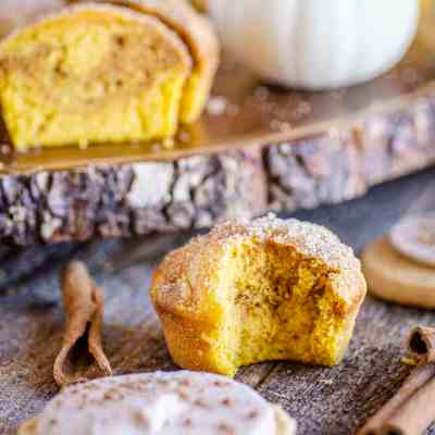 Snickerdoodle Pumpkin Muffins