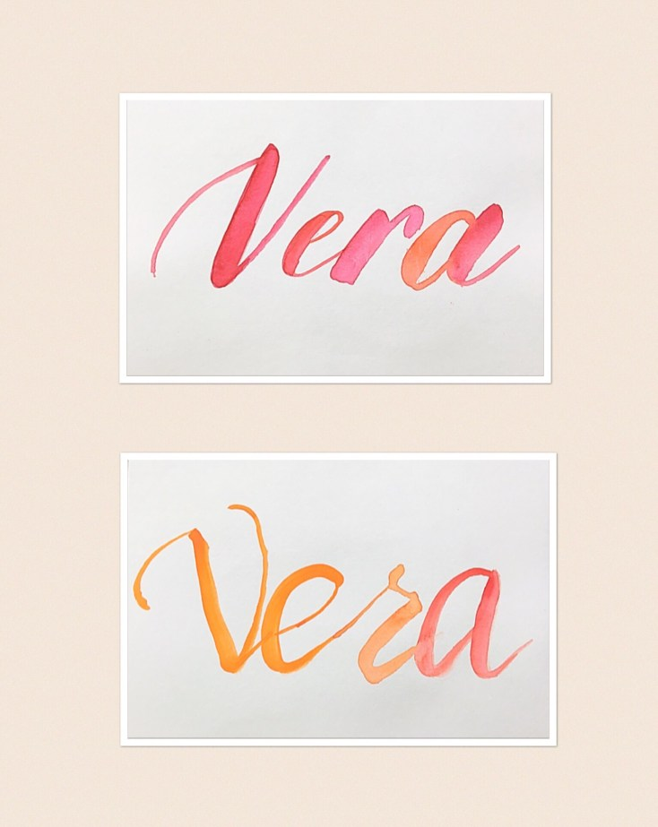 Water colour Brush lettering