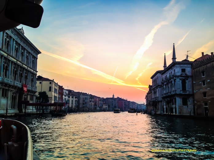 Grand Canal Venice at the break of dawn
