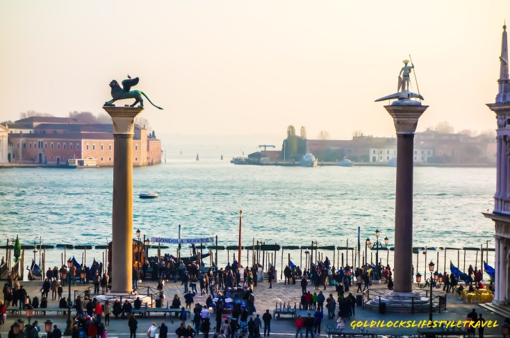 St Theodore statue and Lion of Venice