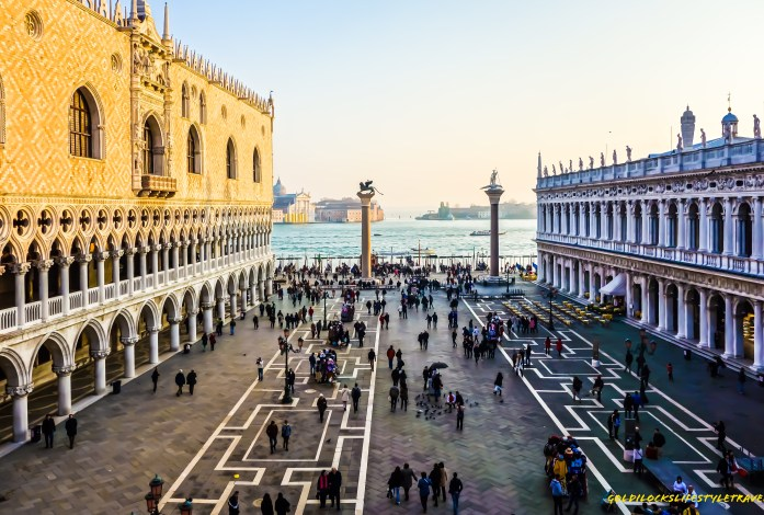 View from the rooftop of St Mark's Basilica Venice