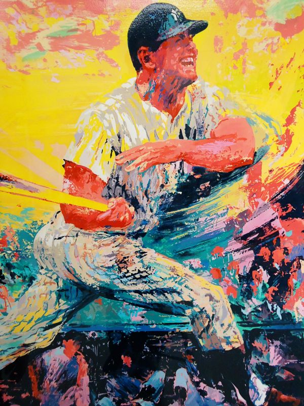 Lot Detail - Mickey Mantle Serigraph Signed Artist Leroy Neiman 209 350
