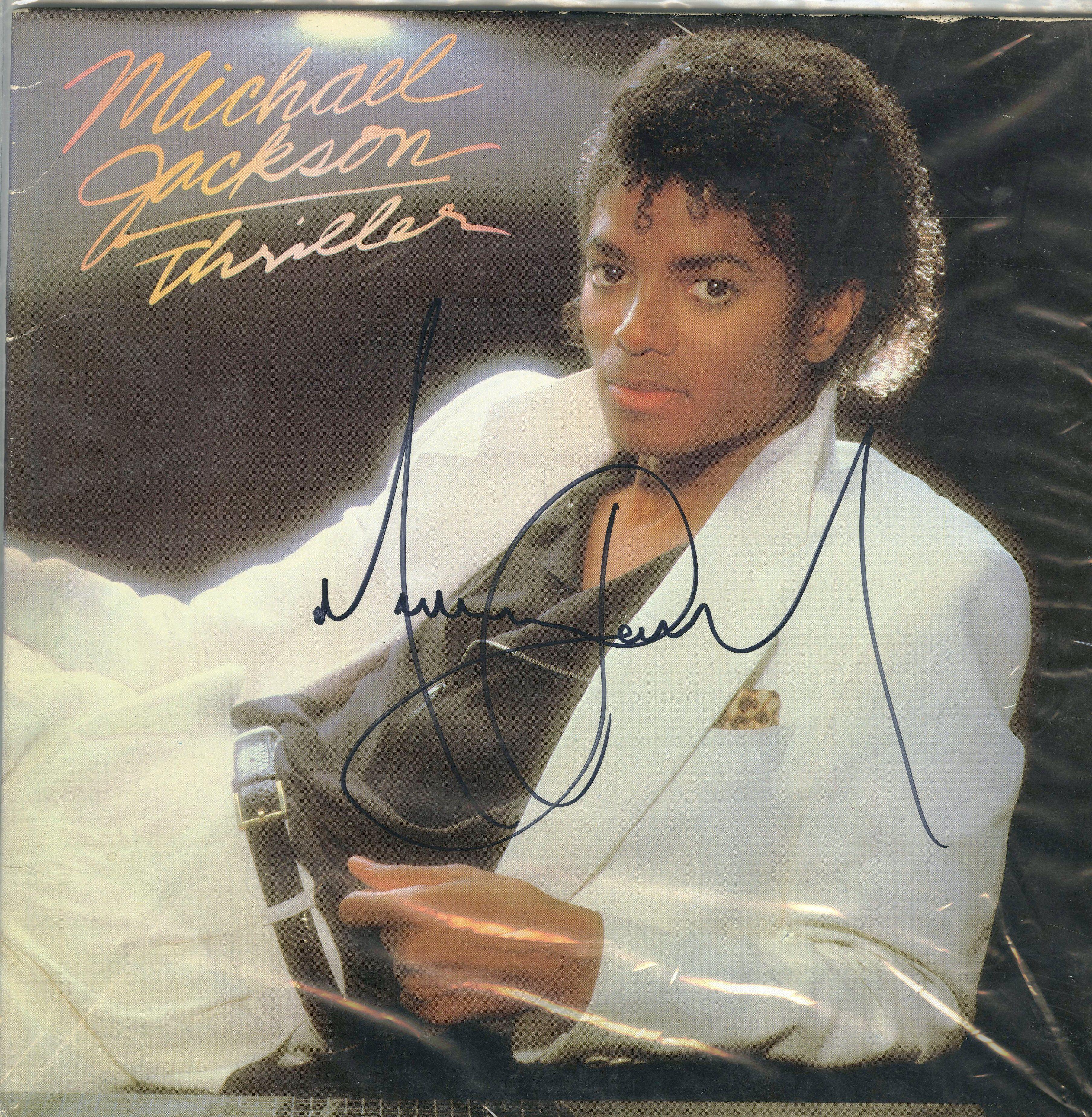 Lot Detail  Michael Jackson Signed Thriller Album Cover