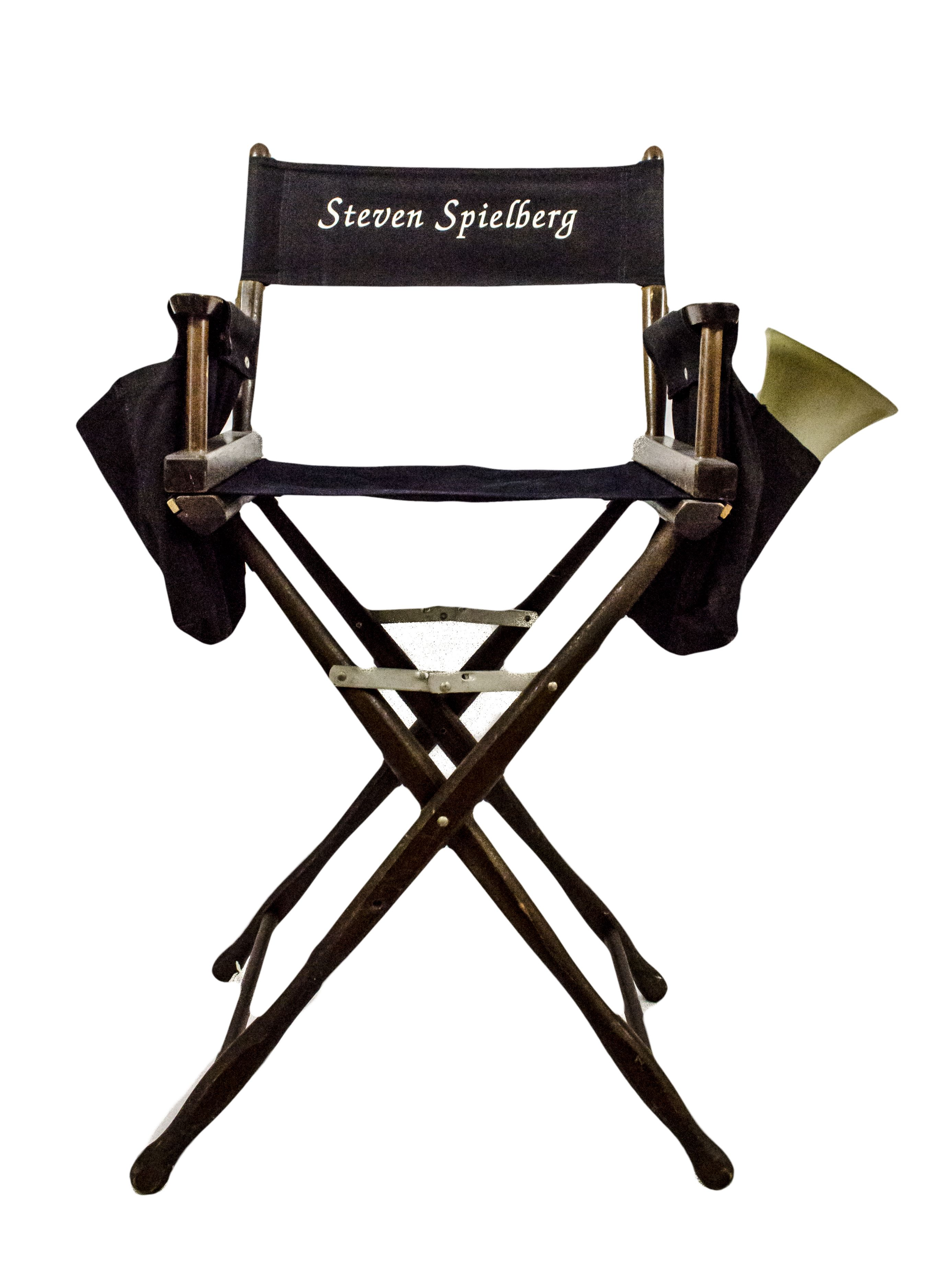 folding directors chair tall the is against wall shirt lot detail - steven spielberg for movie amistad