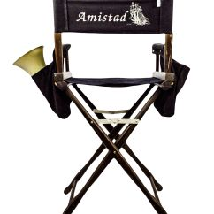 Folding Directors Chair Tall Baby Blue Spandex Covers Lot Detail - Steven Spielberg For The Movie Amistad
