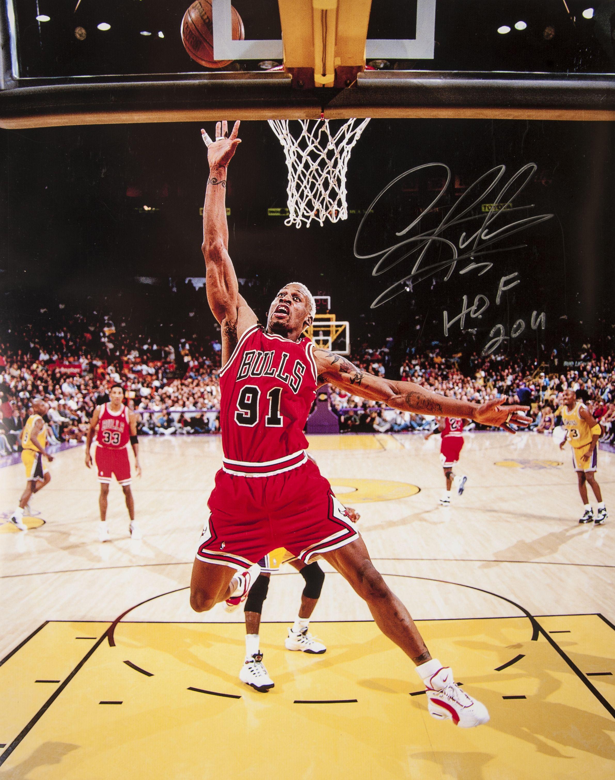 Lot Detail Large Dennis Rodman Autograph Lot Of 16