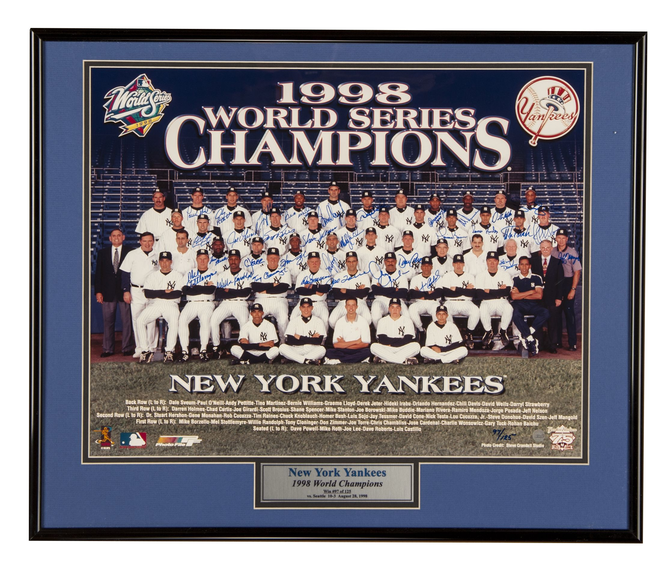 Lot Detail  1998 New York Yankees Team Signed 16x20 Photo