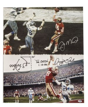 Lot Detail  Dwight Clark & Joe Montana Dual Signed