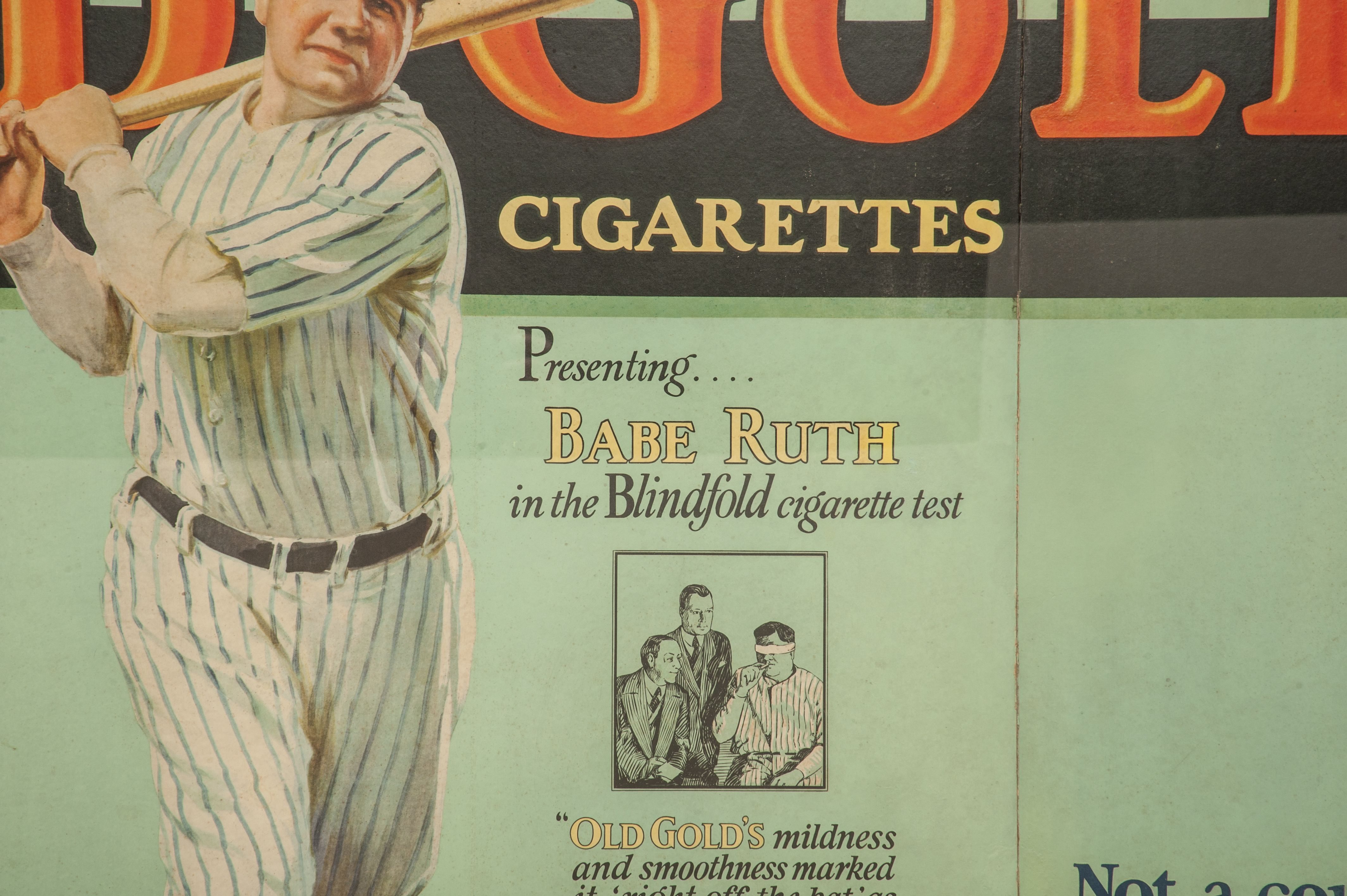 Lot Detail  Magnificent 1930s Babe Ruth Old Gold Tri