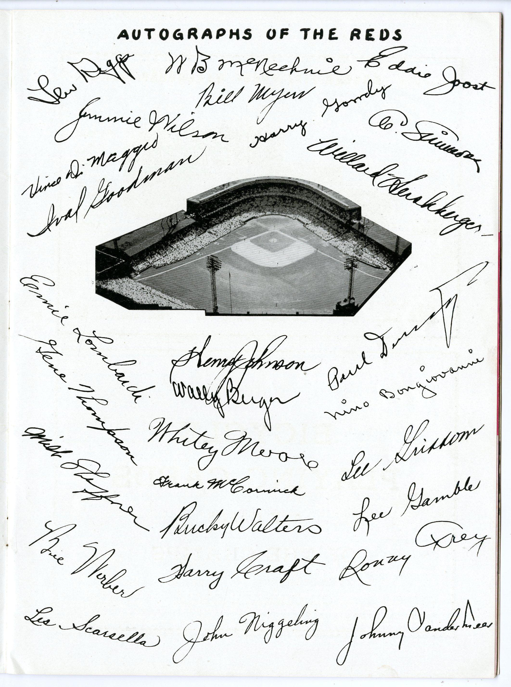 Lot Detail - 1939 World Series Program