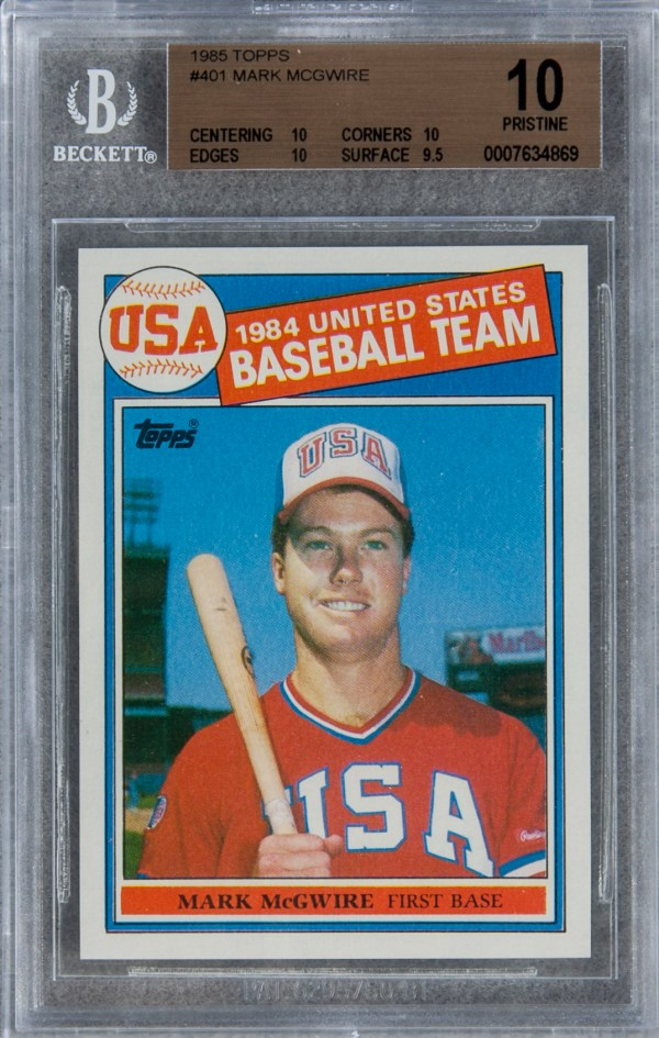 Lot Detail - 1985 Topps #401 Mark Mcgwire Rookie Card