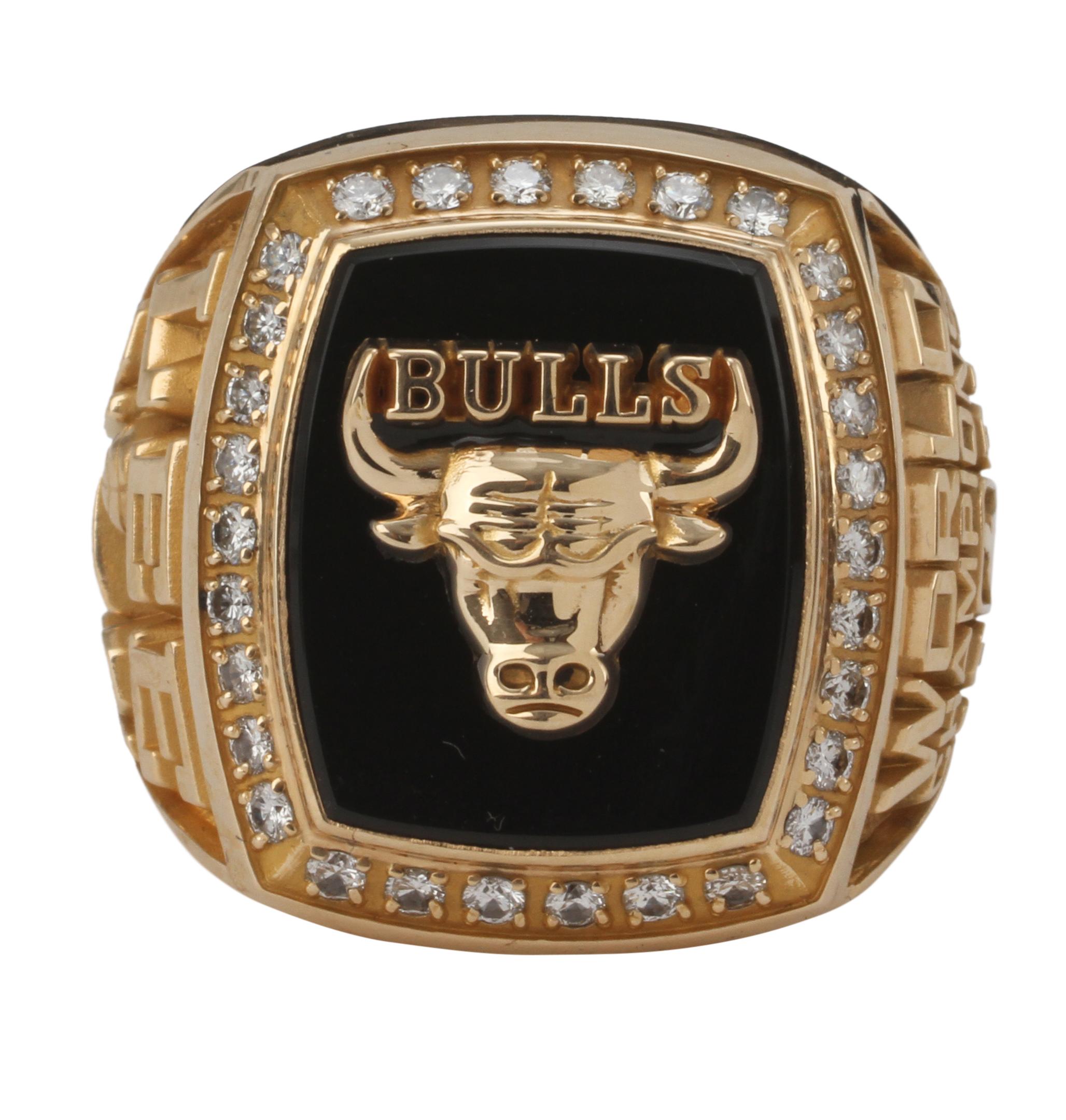 Lot Detail  199091 Chicago Bulls 14K NBA Championship