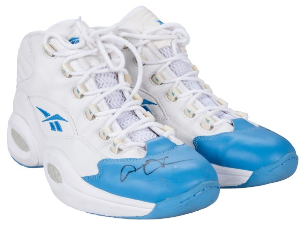 Lot Detail 2006 Allen Iverson Game Used and Signed Blue