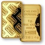 The 1-gram Credit Suisse Gold Bar
