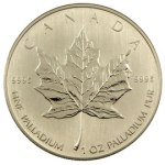 Palladium Maple Leaf coins were only made in one size - 1 troy ounce.