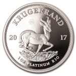 South Africa Platinum Krugerrand Coins