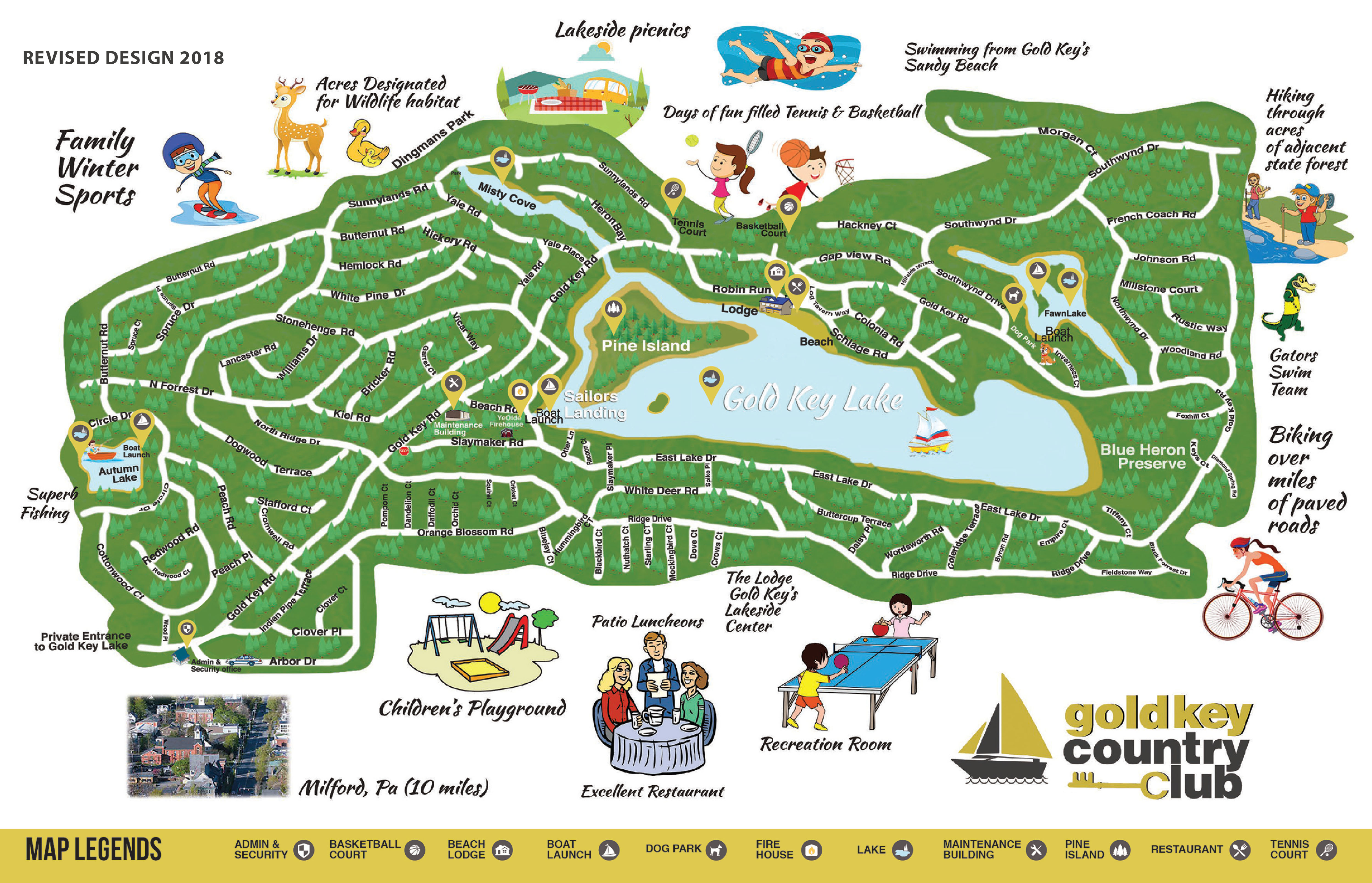 Gold Key Country Club Road Map