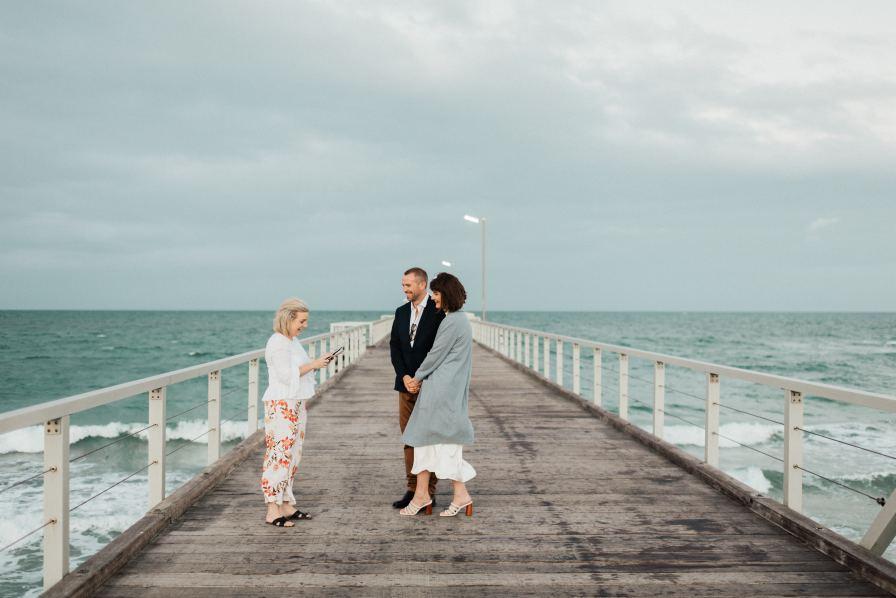 Adelaide city elopement photographer henley beach