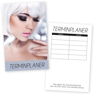 stylishe Terminkarte SILVER STAR