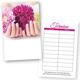 Maniküre Terminkarte FLOWER NAILS