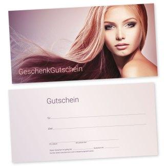 Kosmetiksalon Friseurgutscheinkarte BEAUTY FACE (Gutscheinkarte)