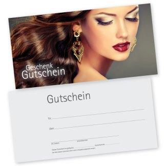 Kosmetik- und Friseurgutscheinkarte HAIR & BEAUTY (Gutscheinkarte)