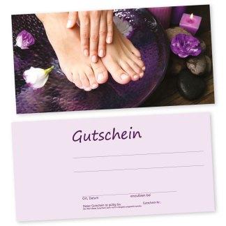 Maniküre und Pediküre Gutscheinkarte HAND & Fuß