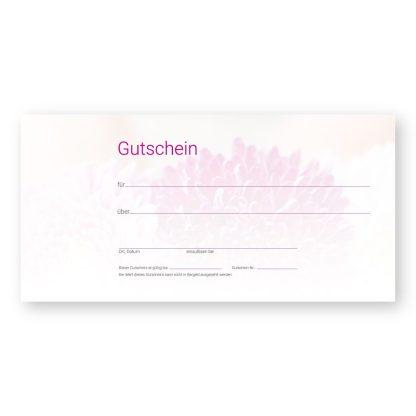 Maniküre Gutscheinkarte FLOWER NAILS (Gutscheinkarte)
