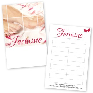 Pediküre Terminkarte PINK LADY mit 10 Terminen