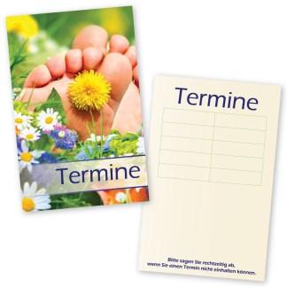 Fußpflege-Terminkarten