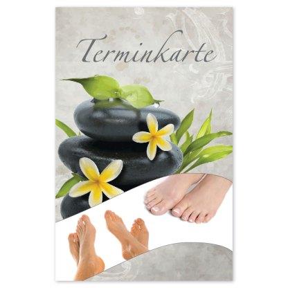 Terminkarte für Fußpflege RELAXING FEET