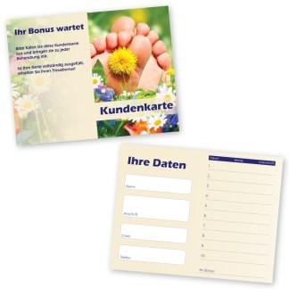 Kundenkarte für Fußpflege RELAXING FEET