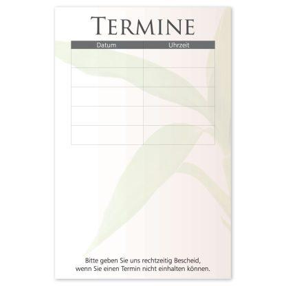 Terminkarte für Kosmetikbehandlung BEAUTY MEN