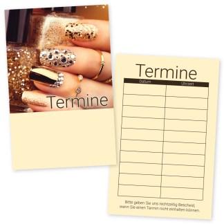 Nageldesign Visitenkarte Glamour Nails Querformat