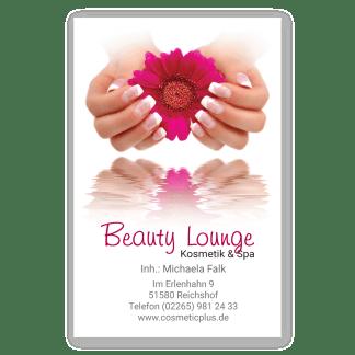Handpflege-Visitenkarte FRENCH NAILS (Hochformat)