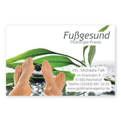 Podologie-Visitenkarte FUSS RELAX (Hochformat)