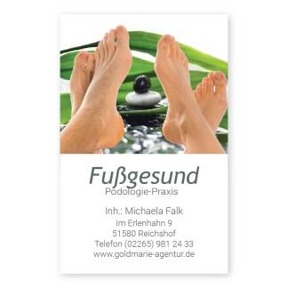 Podologie Visitenkarte FUSS RELAX (Hochformat)