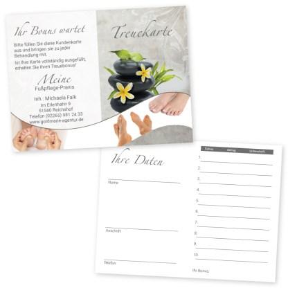 Kundenkarte Fußpflege RELAXING FEET (Hochformat)
