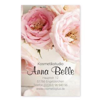 Visitenkarte VINTAGE (Hochformat) für Beauty, Mode, Beratung, Geschenke