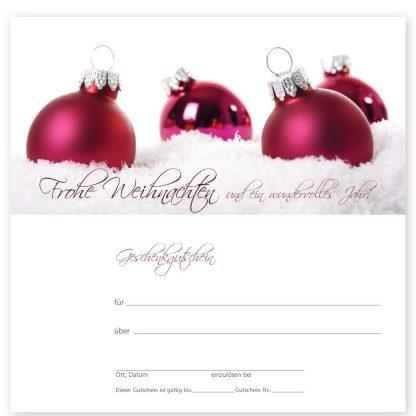 Weihnachtsgutschein XMAS RED Kosmetik (Klappgutschein)